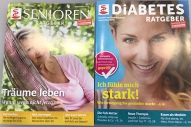 Senioren Ratgeber und Diabetes Ratgeber gratis aus der Apotheke Jedlesee